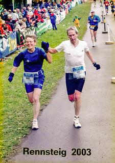 17.05.2003 Zieleinlauf Rennsteiglauf 73,2 km