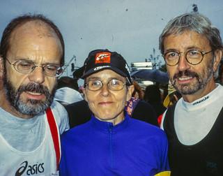 Gisela, Klaus F., Peter H. in der Startaufstellung