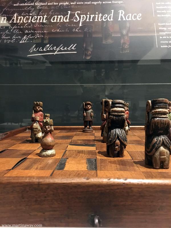 La scacchiera di Sir Walter Scott al Museo degli Scrittori