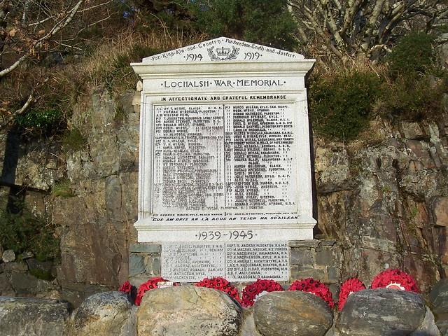 Lochalsh War Memorial, near Reraig, Highlands of Scotland, 2013
