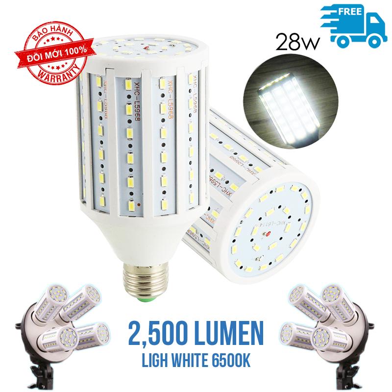 Bóng đèn led Softbox 360 độ 2500LM 28w light white 6500K