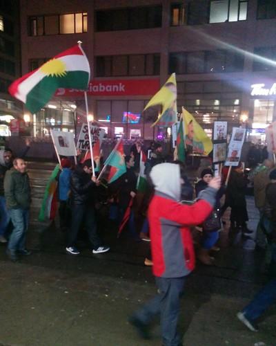 Protest against Turkey in Syria (9) #toronto #protest #march #kurdish #flags #kurd #turkey #syria #rojava #afrin #night #yongeandwellesley