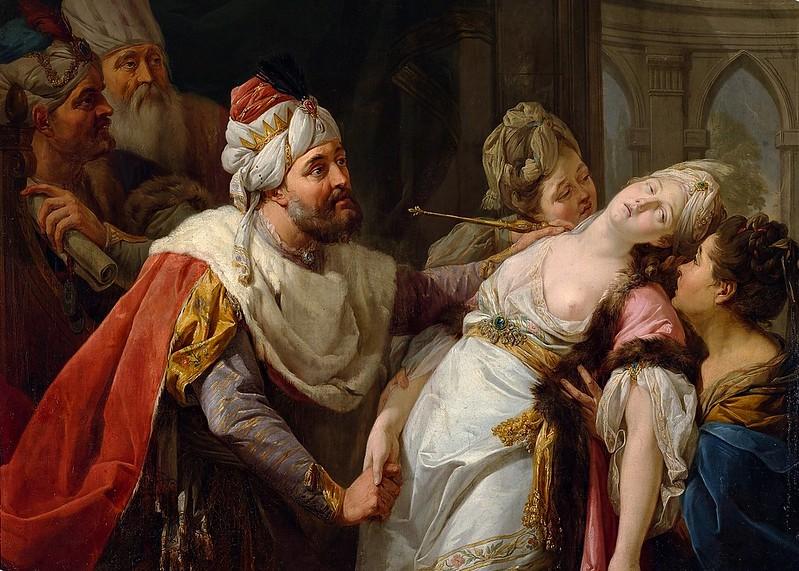Marcello Bacciarelli - Esther and Ahasuerus (c.1772)