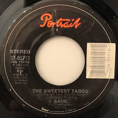 SADE:THE SWEETEST TABOO(LABEL SIDE-A)