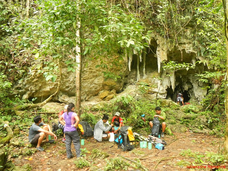 Arrival at the Lobo Cave entrance