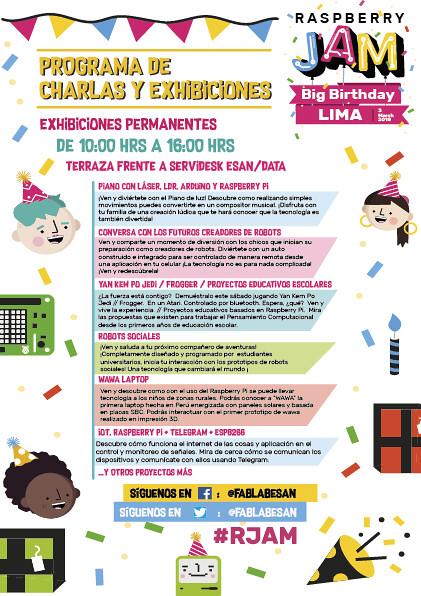 Programa Raspberry JAM Lima