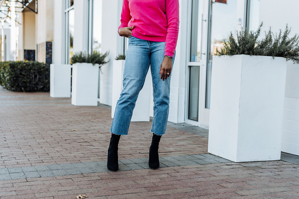 how to style crop jeans
