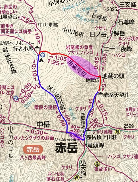 20180127_赤岳雪山地図