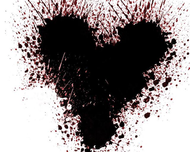 Exploding heart mask