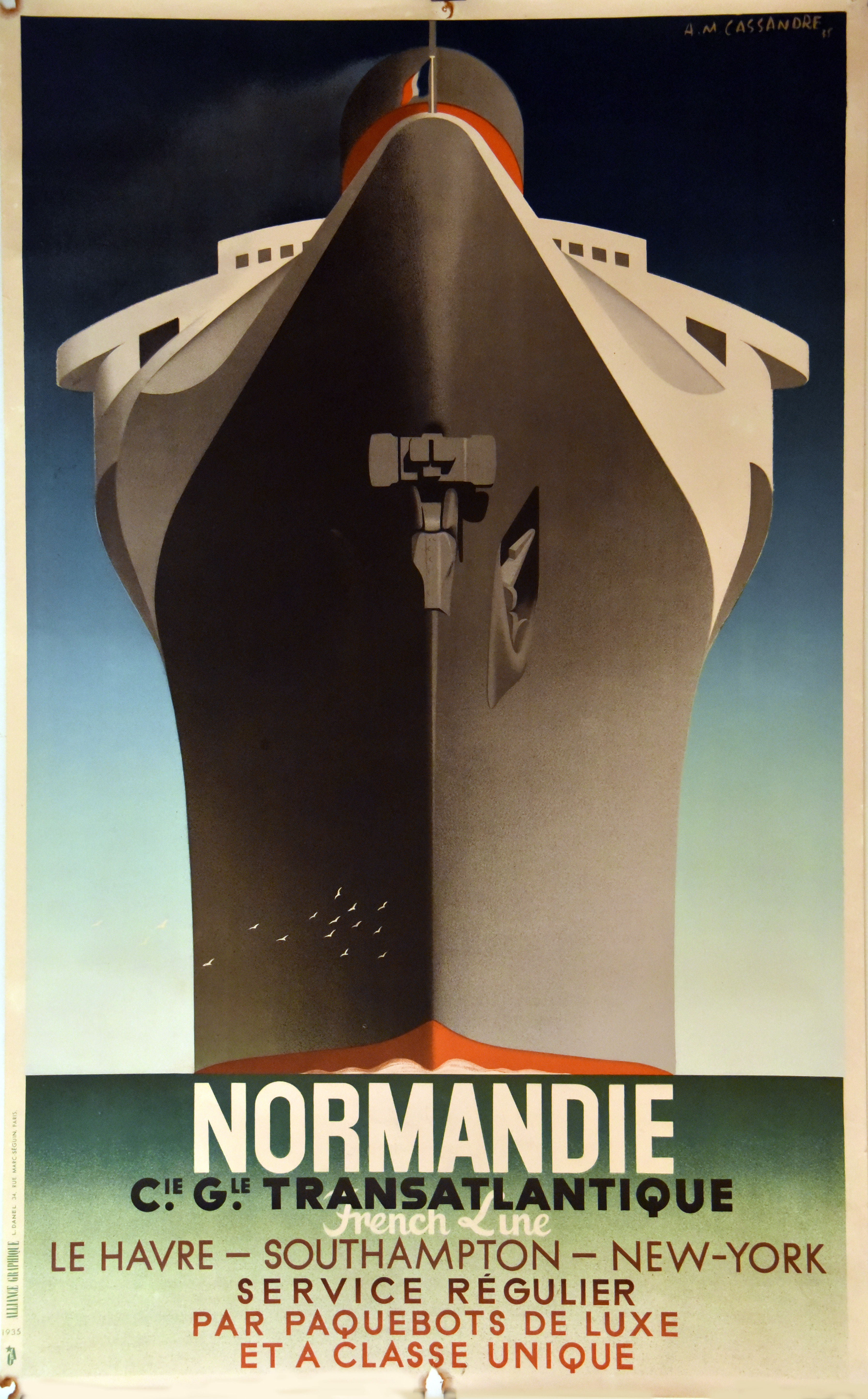 Adolphe Cassandre's famed 1935 depiction of SS Normandie.