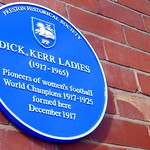 First blue plaque in the world for women's football is now attached to factory in Preston where the team was formed