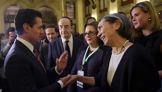 Mi foto con el Presidente