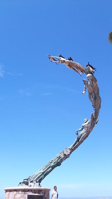 Statue along Puerto Vallarta malecon