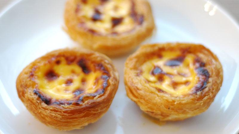 Egg tart khas Makau memiliki cita rasa yang berbeda dari egg tart lainnya