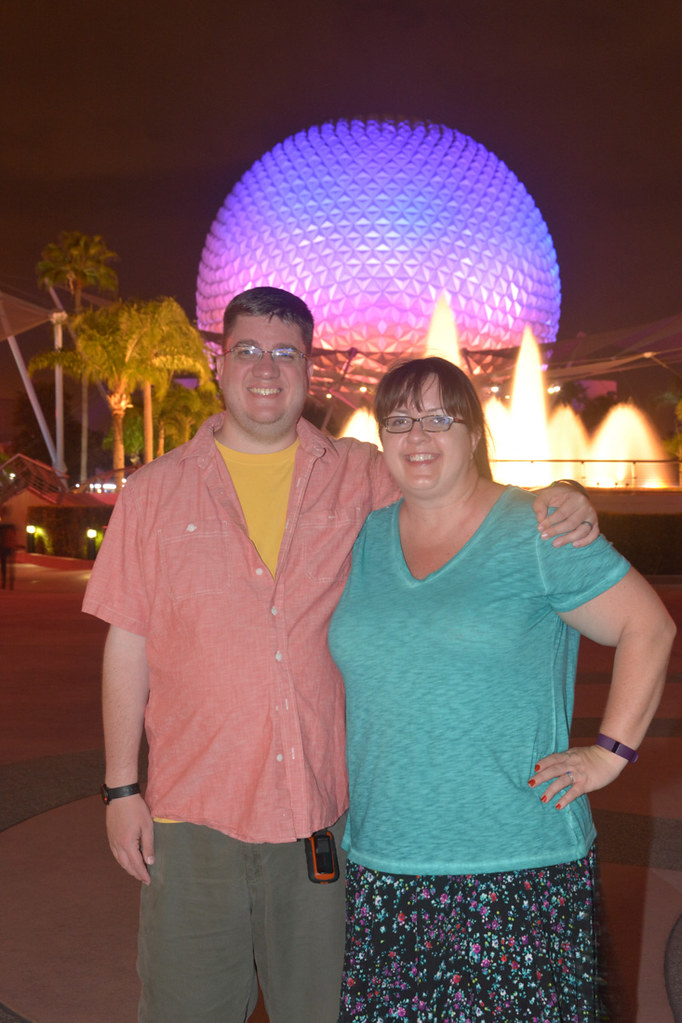Ken and I at EPCOT at night
