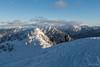 Pohled na Alpy z vrcholu Häsing 1728 m n./m