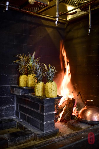 Pineapples on the hearth.