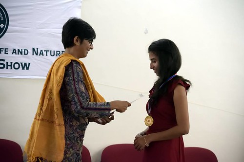 jainy kuriakose and awardee sweta, art and wildlife for nature, 300118