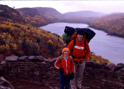 From first hike ever in the Porcupine Mountains in Michigan when I was nine. Photographer Ted Nelson
