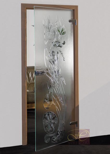 cyclamen skleněné dveře