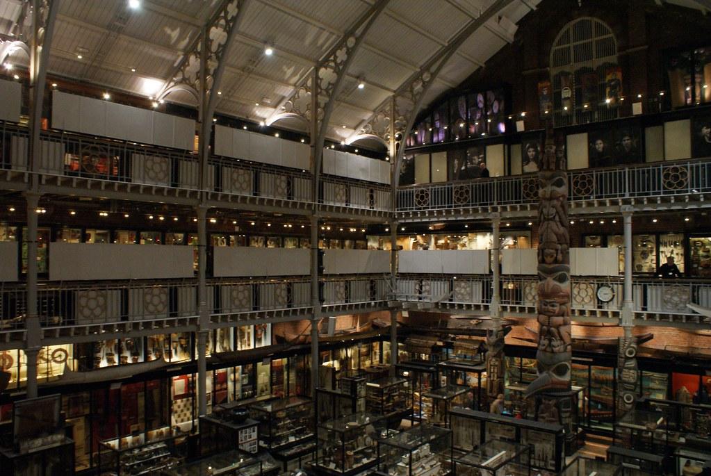Cour intérieure du musée d'anthropologie Pitt Rivers d'Oxford.