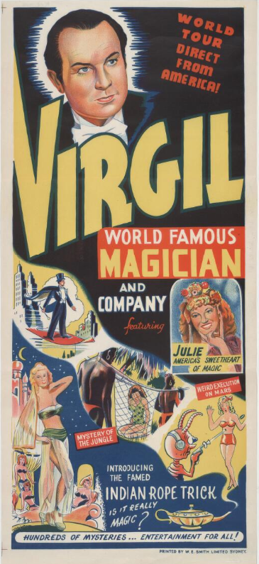 Virgil World Famous Magician Poster
