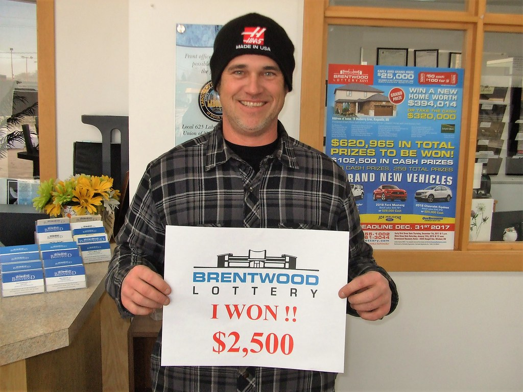 Darryl Lloyd won $2,500 in the Brentwood Lottery XXVI Main Draw