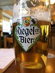 Drinking a Riegeler Felsen Pils by Fürstlich Fürstenbergische Brauerei