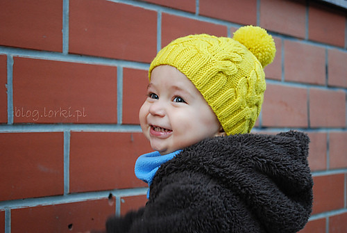 I Heart Cables Hat by Justyna Lorkowska without earflaps version