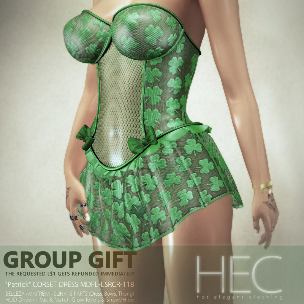 "HEC (EVENT EXCLUSIVE GIFT) • ""Patrick"" CORSET DRESS GIFT MDFL-LSRCR-118"