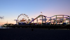 Sunset on Santa Monica Pier