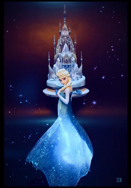 Got this masterpiece OOAK Painted Frozen Snow Castle Craft #anna #frozen #disney #disneyfrozen #castle #palace #model #craft #kit #ooak #customized #toy #masterpiece #movie #winter #snow