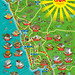 OYO Rooms Goa Map Illustration - isometric map illustration by Rod Hunt