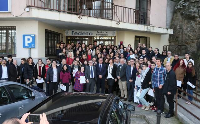 Entrega Certificados Profesionalidad FEDETO (19 de febrero de 2018)