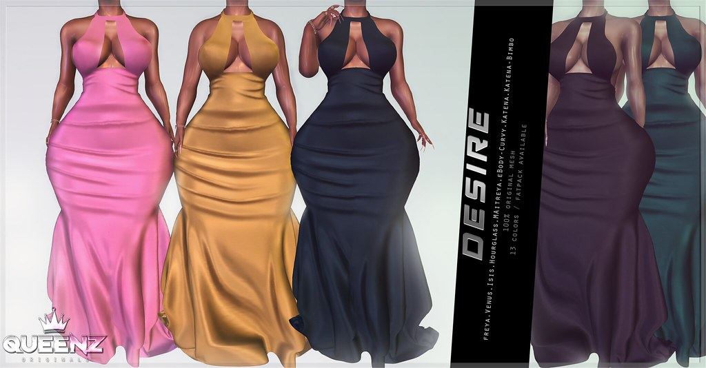 QUEENZ | Desire Gown - TeleportHub.com Live!