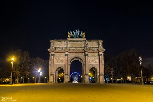 Arco del Carrusel de Noche