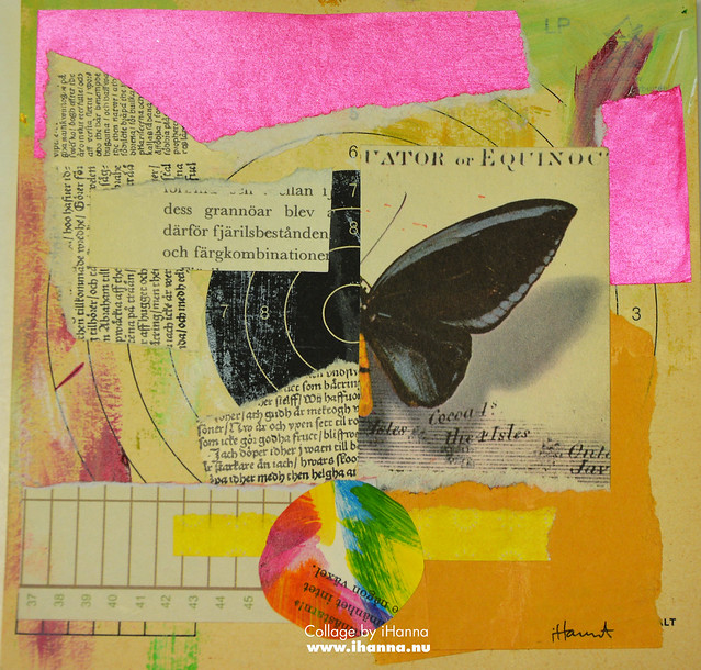 Butterfly Collage Week: 365 Collages in 2018 Week 3 Black Winged Butterfly by iHanna #365somethings2018 #collage #art