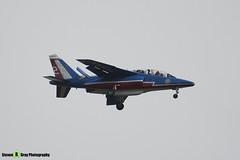 E135 F-TERX 2 - E135 - Patrouille de France - French Air Force - Dassault-Dornier Alpha Jet E - RIAT 2008 Fairford - 070711 - Steven Gray - IMG_6368
