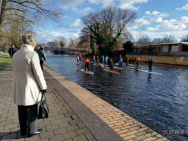 Stand up paddle, Potsdam, Dia 1º de Janeiro