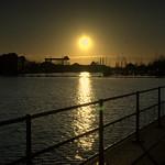 Low Sun over Preston Marina