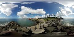 The Kaka'ako Waterfront Park in Honolulu -a 360 equirectangular VR
