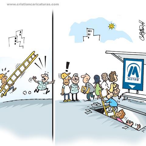 Escaleras para el metro