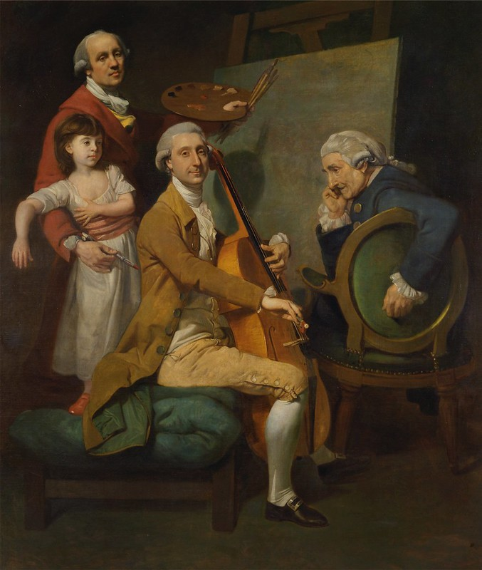 Johan Joseph Zoffany - Self-Portrait with His Daughter Maria Theresa, James Cervetto, and Giacobbe Cervetto (c.1780)