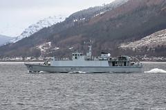 HMS Penzance, M106; Firth of Clyde, Scotland