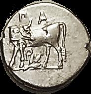 PARION Hemidrachm with Gorgon face reverse