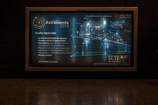 Día de la Astronomía 2018. Backlights Metro