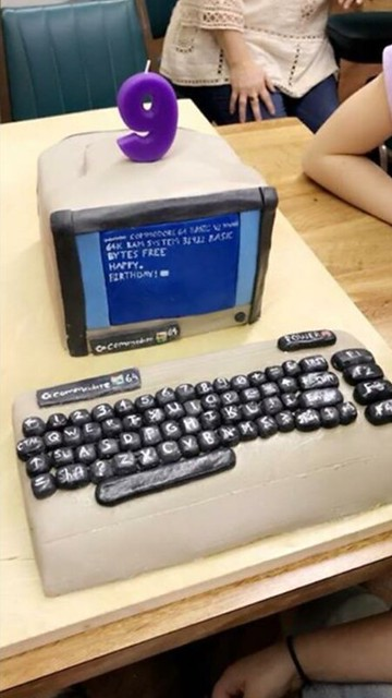 Old Computer Cake by Shelby Mohr