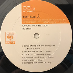 THE BYRDS:YOUNGER THAN YESTERDAY(LABEL SIDE-A)