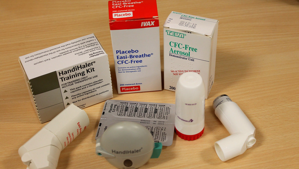 Selection of inhalers and other medicine