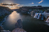When the night comes at Shoshone Falls State Park